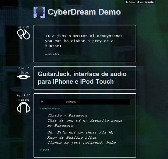 cyberdream dark tumblr theme