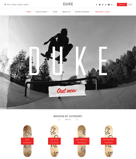 duke sports fitness shopify themes
