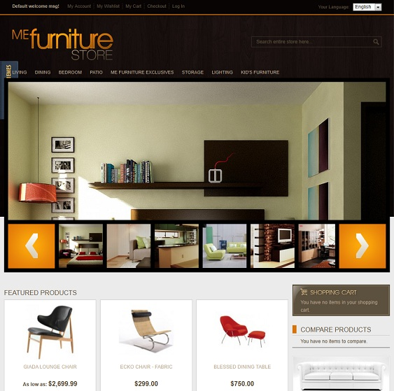 furniture dark magento theme