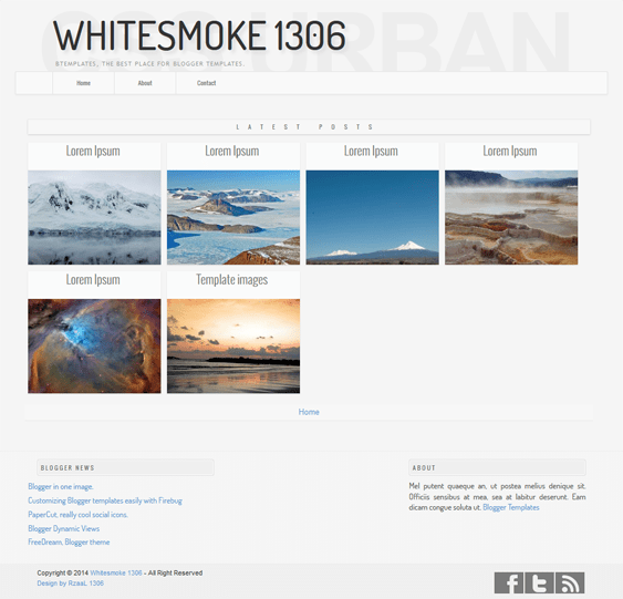 whitesmoke minimal blogger theme