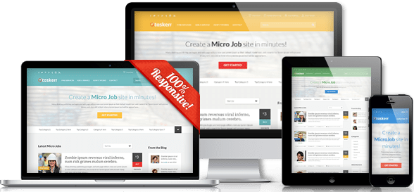 Taskerr WordPress Micro Job Theme Preview