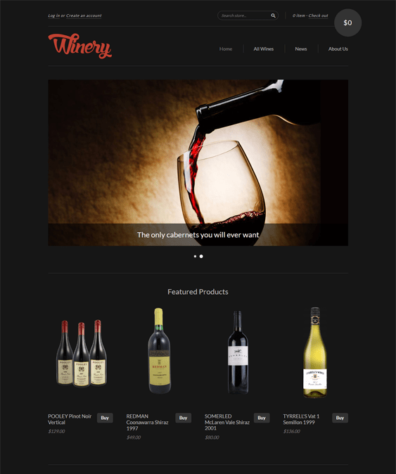 new standard food drink shopify themes