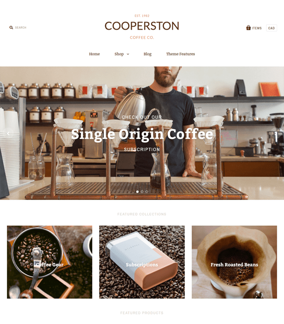 pacific warm food drink shopify themes