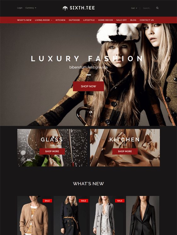 sixthtee dark shopify theme