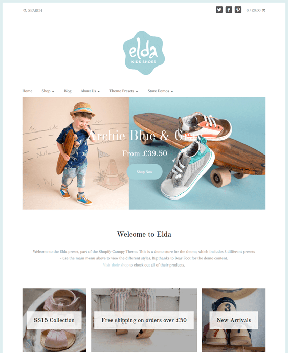 canopy shoe footwear shopify themes
