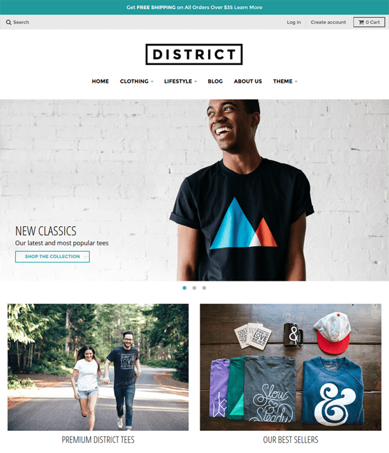 district clean shopify themes