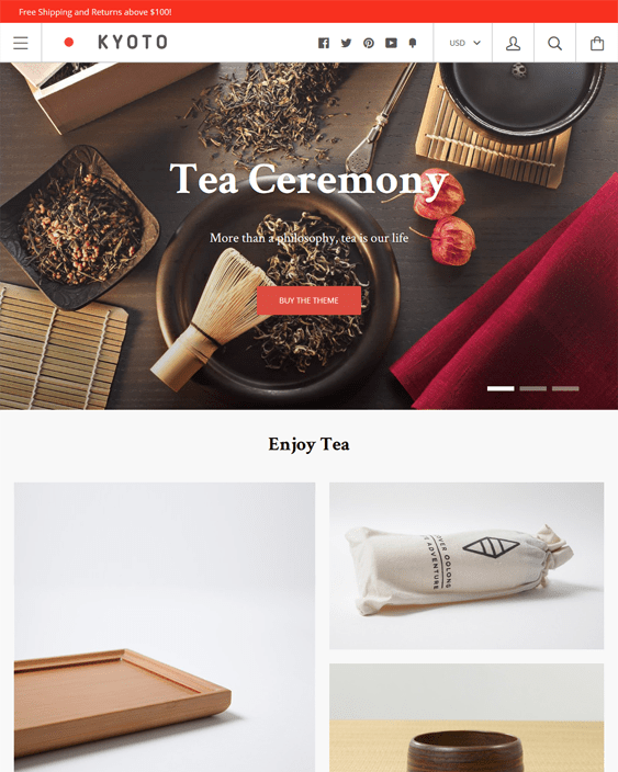 kagami food drink shopify themes