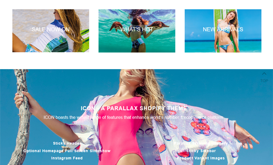 more best parallax shopify themes feature