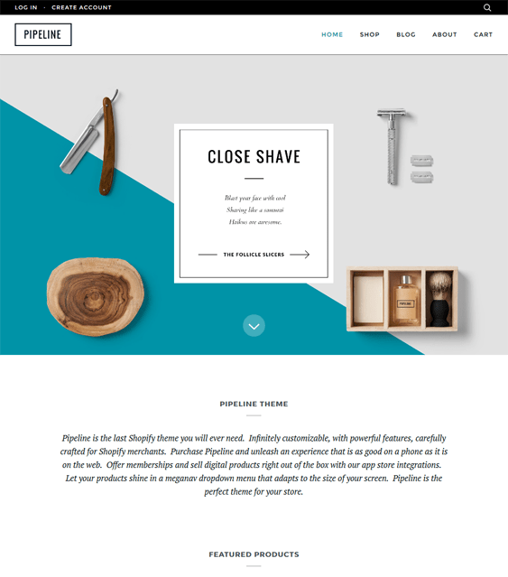 pipeline parallax shopify themes