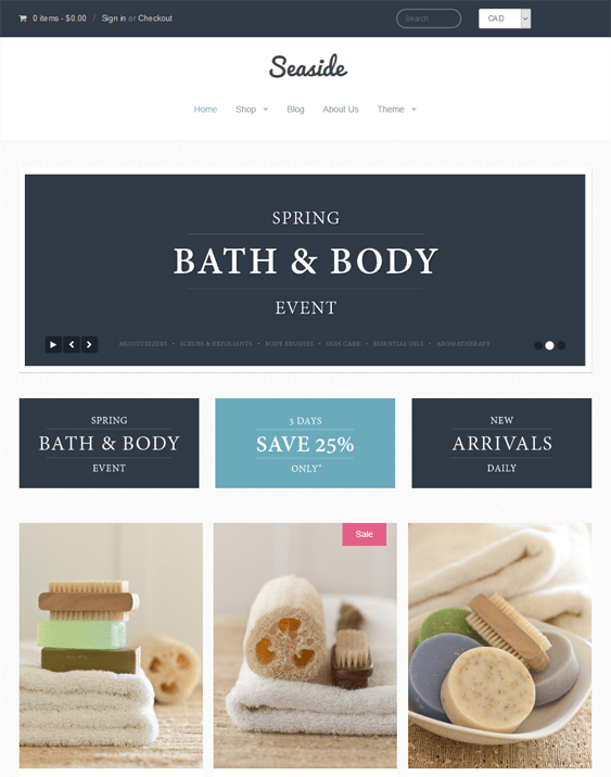 providence shopify themes health beauty products