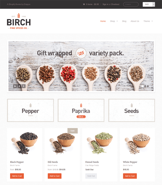 providence food drink shopify themes