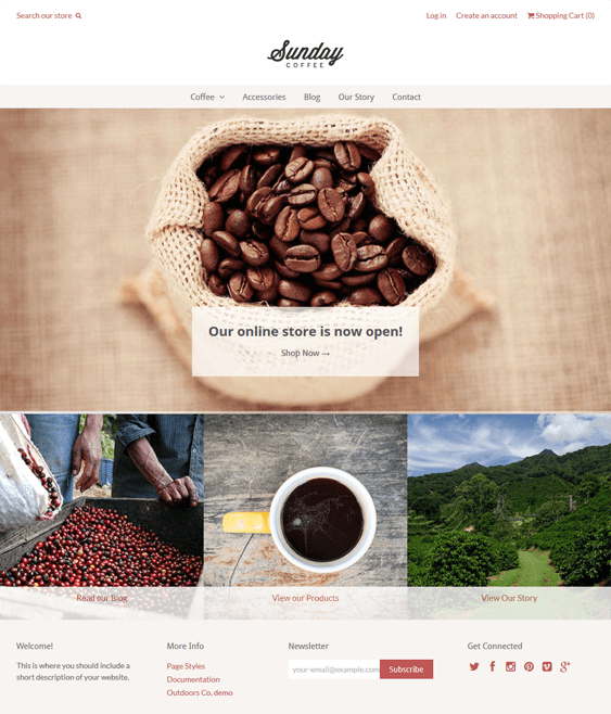 weekend food drink shopify themes