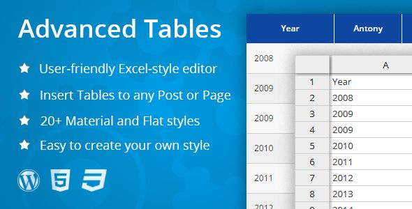 Advanced Tables by Eugenyholin (pricing table plugin)