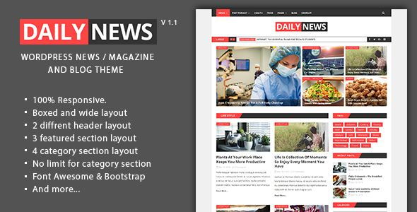 Daily News by GBJsolution (video blog WordPress theme)