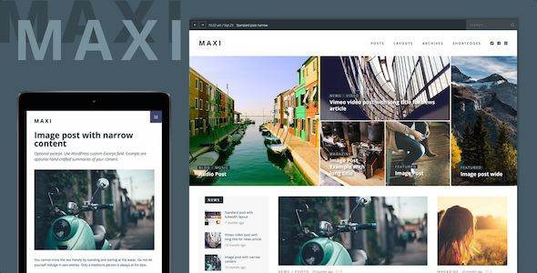 Maxi by Themeous (video blog WordPress theme)