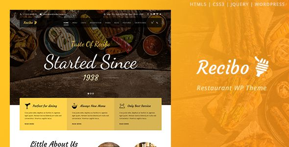 Recibo by GoodLayers (WordPress theme)