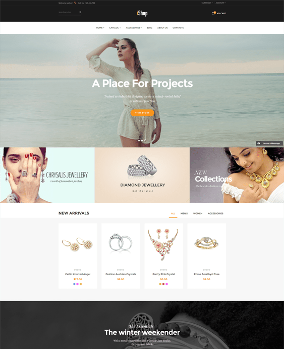 ishop jewelry shopify themes