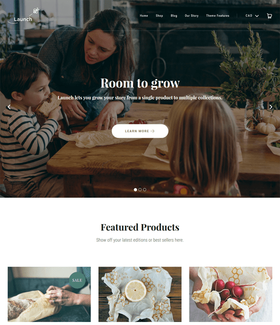 launch minimal shopify themes