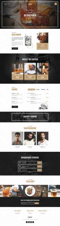 OldStory - Whisky Bar - Pub - Restaurant WP Theme