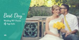 Wedding invitation WordPress Themes