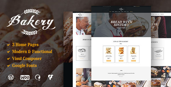 Bakery by AncoraThemes (WordPress theme for bakeries, cafes and food retail stores)