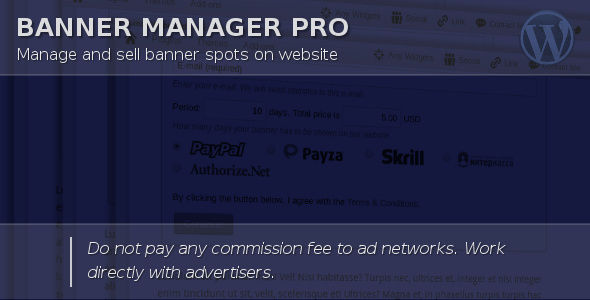 Banner Manager For WordPress by Halfdata (WordPress advertising plugin)