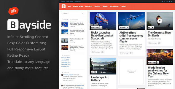 Bayside by ProgressionStudios (WordPress theme with infinite scrolling)