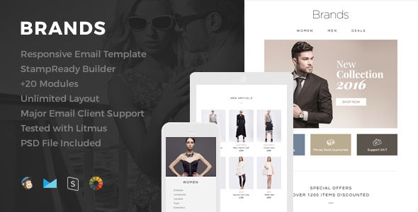 Brands by HyperPix (email templates for use with Mailchimp)