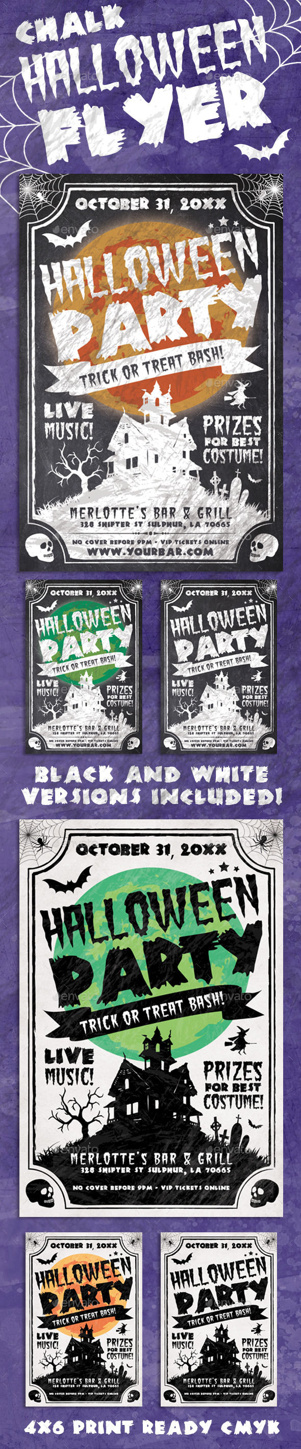Chalk Halloween Flyer by Ronin54 (Halloween party flyer)