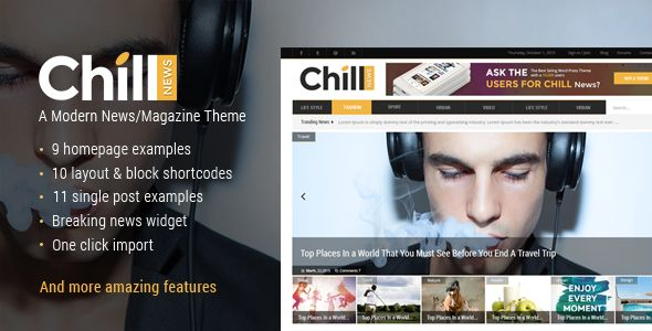 Chill News by Mikado-Themes (magazine WordPress theme)