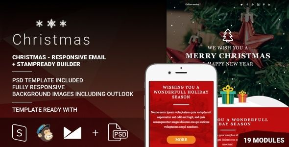 Christmas by Psd2newsletters (email templates for use with Mailchimp)