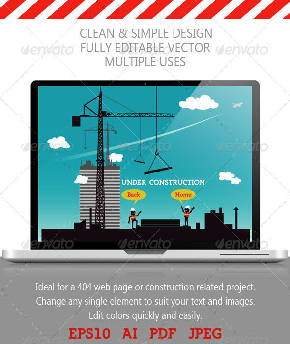Construction Site by AddtoFavorites (layered 404 page template)
