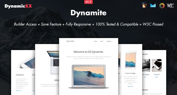 Dynamite by DynamicXX (email templates for use with Mailchimp)
