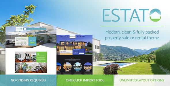 Estato by BoldThemes (real estate and realtor WordPress theme)