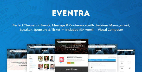 Eventra by AivahThemes (event & conference WordPress theme)