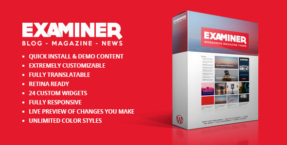 Examiner Magazine Theme by BobiFox (magazine WordPress theme)