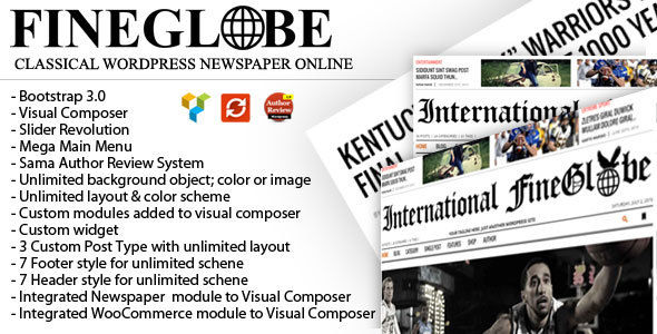 Fineglobe by RepublikWP (magazine WordPress theme)