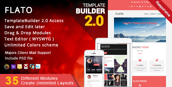 Flato by Akedodee (email templates for use with Mailchimp)
