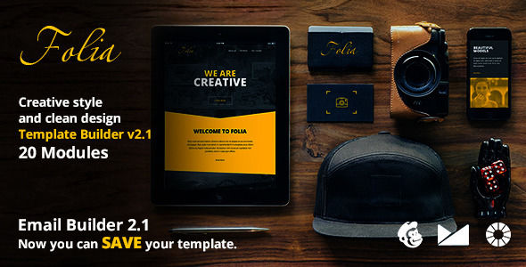 Folia Email Template by Web4pro (email templates for use with Mailchimp)