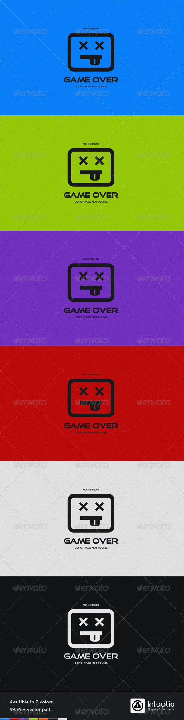 Game Over Error Page by AddtoFavorites (layered 404 page template)