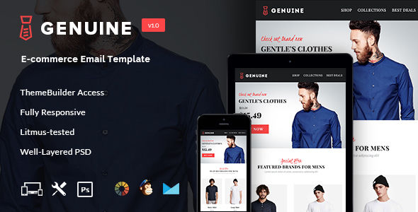 Genuine by Seeemon (email templates for use with Mailchimp)