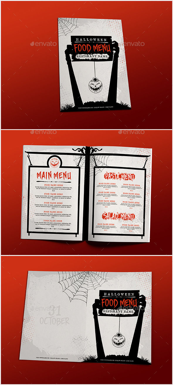 Halloween Food Menu by D-S (Halloween party flyer)