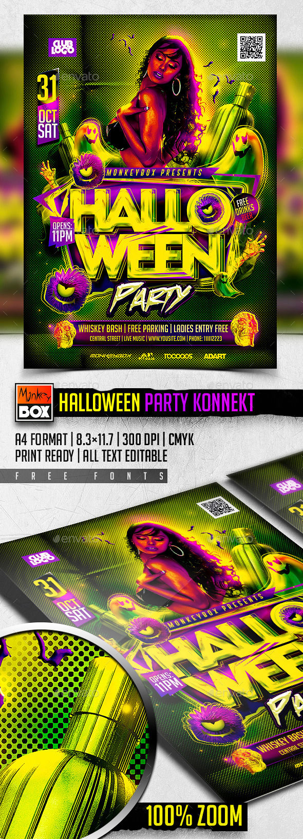 Halloween Party Konnekt by MonkeyBOX (Halloween party flyer)