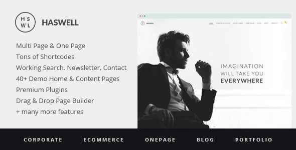 Haswell by RedExp (multi-purpose WordPress theme)