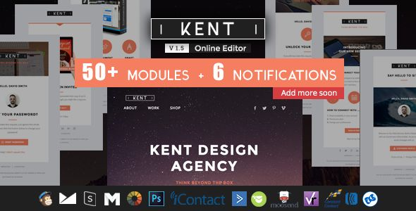 Kent by Ux-email (email templates for use with Mailchimp)
