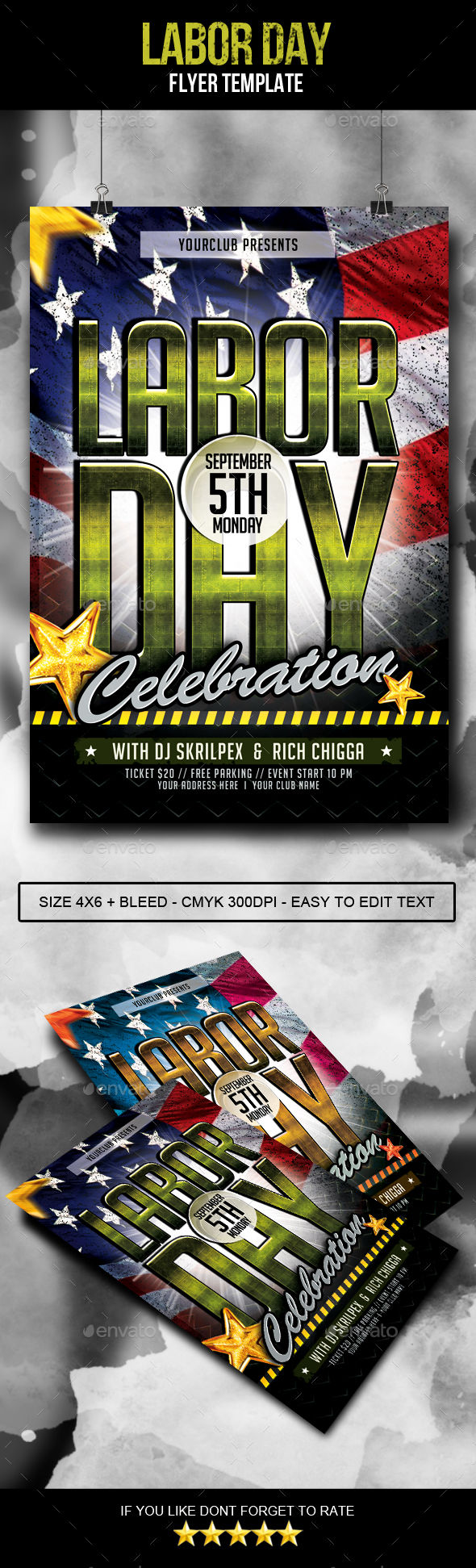Labor Day Flyer by AyumaDesign (Labor Day party flyer)