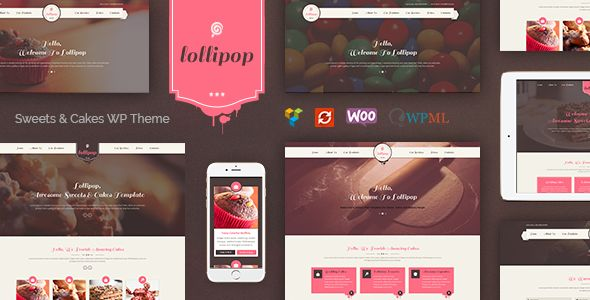 Lollipop by RedExp (WordPress theme for bakeries, cafes and food retail stores)