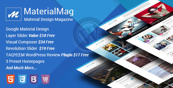 MaterialMag by CrunchPress (magazine WordPress theme)