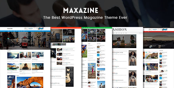 Maxazine by CleverSoft (magazine WordPress theme)