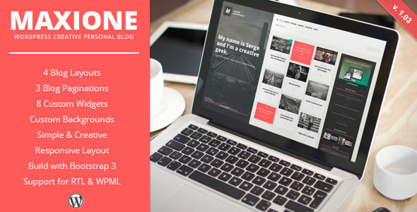 MaxiOne by ZERGE (WordPress theme with infinite scrolling)